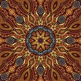 Circle decorative pattern. Decorative orange ornamental ethnic vector pattern background Royalty Free Stock Photos