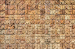 Circle design on bricks wall Royalty Free Stock Photo