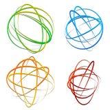Circle design element with random oval, ellipse shapes Stock Images