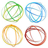 Circle design element with random oval, ellipse shapes Stock Photography