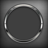 Circle design elements on black Royalty Free Stock Photography