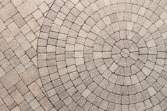 Circle Design pattern in patio paving Stock Images