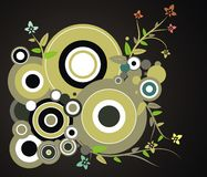 Circle design with plants Royalty Free Stock Image
