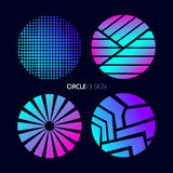 Circle design set with abstract geometry shapes Stock Image
