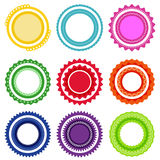 Circle design set. Royalty Free Stock Photo