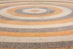 Circle design stone floor tiles Royalty Free Stock Photo