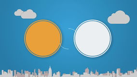 Circle diagram animation for topic introduction or explanation in Powerpoint presentations 2. Circle diagram animation for topic introduction or explanation in vector illustration