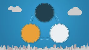 Circle diagram animation for topic introduction or explanation in Powerpoint presentations 3. Circle diagram animation for topic introduction or explanation in royalty free illustration
