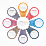 Circle Diagram with Eight Elements Royalty Free Stock Photo