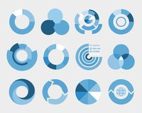 Circle diagram elements Royalty Free Stock Image