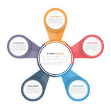 Circle Diagram with Five Elements Stock Photography