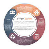 Circle Diagram with Four Elements Stock Photography