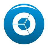 Circle diagram icon blue vector. Circle diagram icon vector blue circle isolated on white background Stock Photos