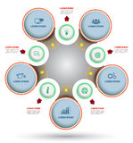 Circle diagram with icon. Can use for brochure and business project background royalty free illustration