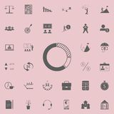 Circle diagram icon. Detailed set of Finance icons. Premium quality graphic design sign. One of the collection icons for websites,. Web design, mobile app on Royalty Free Stock Photo