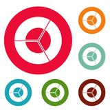 Circle diagram icons circle set vector. Isolated on white background Stock Photography