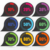 Circle diagram pie charts Infographic elements. Vector Royalty Free Stock Photo
