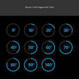 Circle Diagram Pie Charts Infographics - Light Blue Stock Photos