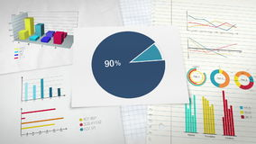 Circle diagram for presentation, Pie chart indicated 90 percent stock video