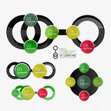 Circle diagram, round stickers connected Royalty Free Stock Image