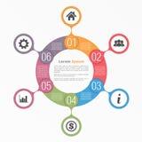 Circle Diagram Six Elements Royalty Free Stock Photography