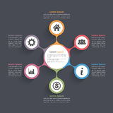 Circle Diagram Six Elements Stock Images