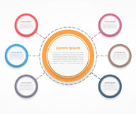 Circle Diagram with Six Elements Stock Photo