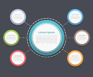 Circle Diagram with Six Elements Royalty Free Stock Images