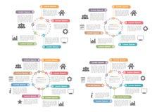 Circle Diagram Templates Set Royalty Free Stock Photos