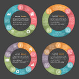 Circle Diagram Templates Stock Photo