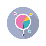 Circle Diagram Vector Icon in Flat Style Design Royalty Free Stock Photo