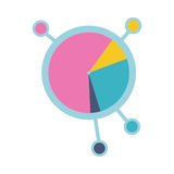 Circle Diagram Vector Icon in Flat Style Design Stock Photography