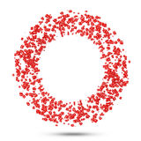 Circle from Discount Cubes. On white background Stock Photography