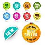 Circle Discount Labels Vector Set Royalty Free Stock Image