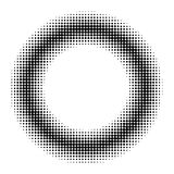 Circle donut halftone effect, vector circle donut comic book manga anime halftone effect. Circle donut halftone effect, vector circle donut for comic book manga vector illustration