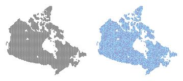Dotted Canada Map Abstractions stock illustration