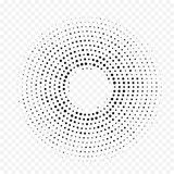 Circle dot halftone circular pattern vector white minimal gradient texture background