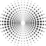 Circle with dots for Design Project. Halftone effect vector illustration. Royalty Free Stock Photography