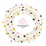 Circle dots frame border with place for text. Vector round celebration decoration. Circle dots frame border with place for text. Vector round celebration vector illustration