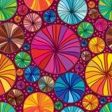 Circle draw colorful seamless pattern Stock Image