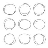 The circle drawn by hand in vector Stock Photography