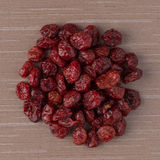 Circle of dried cranberries Stock Images