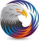 Circle eagle logo. Illustration art of a circle eagle logo with isolated background royalty free illustration