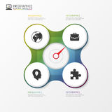 Circle element for infographic. Template for cycle diagram. Vector Royalty Free Stock Image
