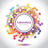 Circle element - molecular formula - abstract background Royalty Free Stock Images