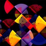 Circle elements on black background. Vector geometric template design vector illustration