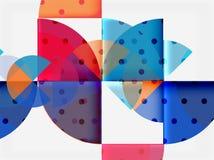 Circle elements on black background Stock Images