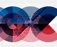 Circle elements on black background Royalty Free Stock Images
