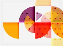 Circle elements on black background Royalty Free Stock Image