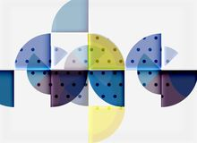 Circle elements on black background. Vector geometric template design royalty free illustration